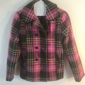 Girls Lavender Plaid coat